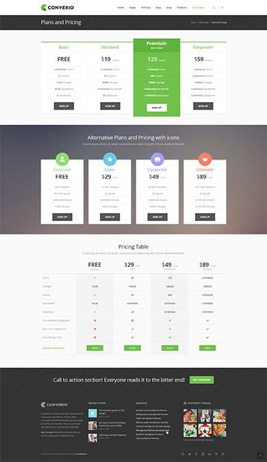 Premium WP Theme screen 1