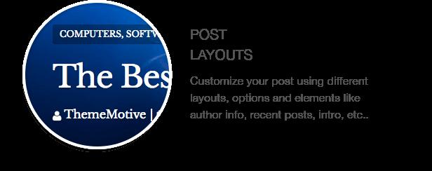 Post layouts